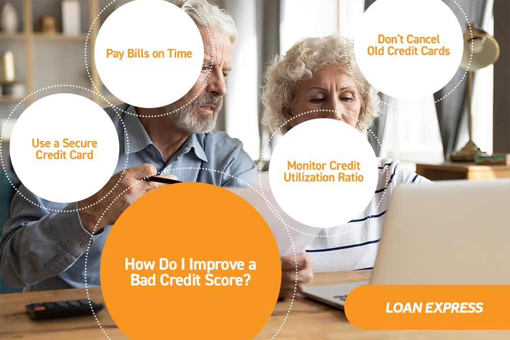 ways to improve a bad credit score